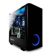 iBUYPOWER Tt View 21 2x Side Tempered Glass Gaming Case-Black